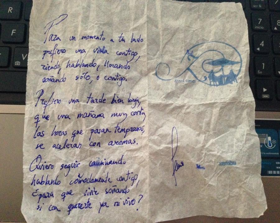 Poema de servilleta