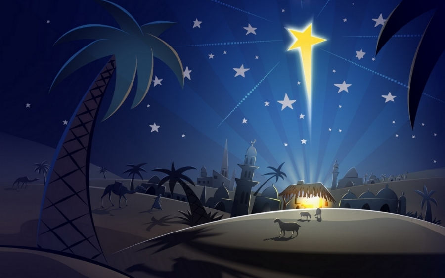Paisajes Bíblicos del nacimiento de Jesús.