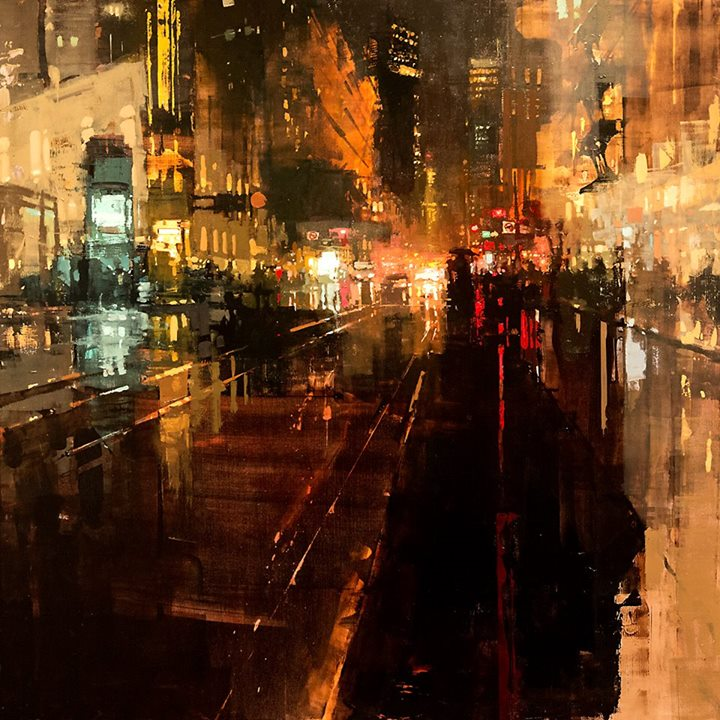 "Artist: Jeremy Mann.  ""Another Night Through Storms"""