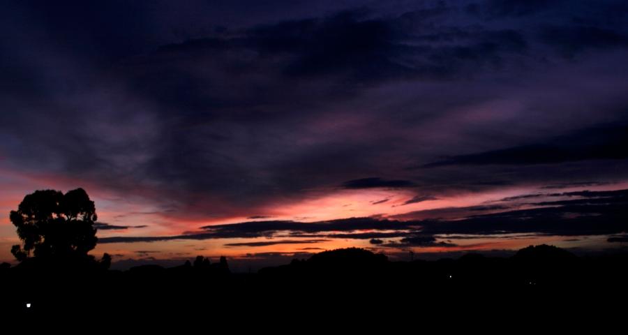 El cielo de hoy. Foto: Vaivén de memorias