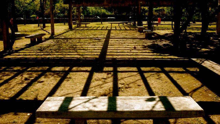 Banco na lagoa. Foto: rachel.schein (FLickr)
