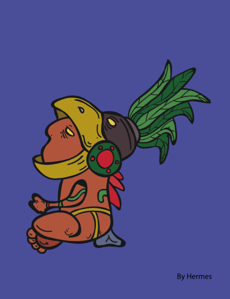 Cuauhtémoc. Último emperador azteca. By Hermes.
