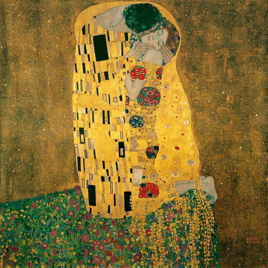 El beso. Gustav Klimt.