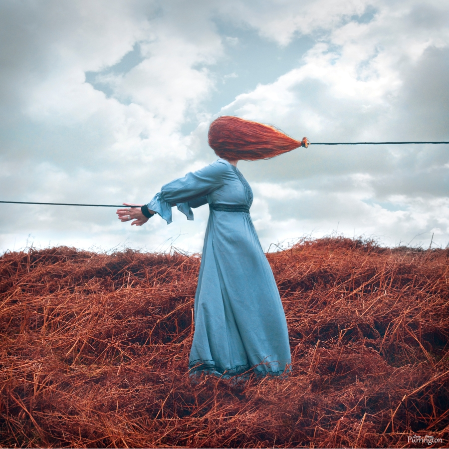 "Surreal Self Portrait.""Wheresoever you go, go with all your heart."" ― Confucius. Foto: Lucy Jane Purrington.Todos los derechos reservados"