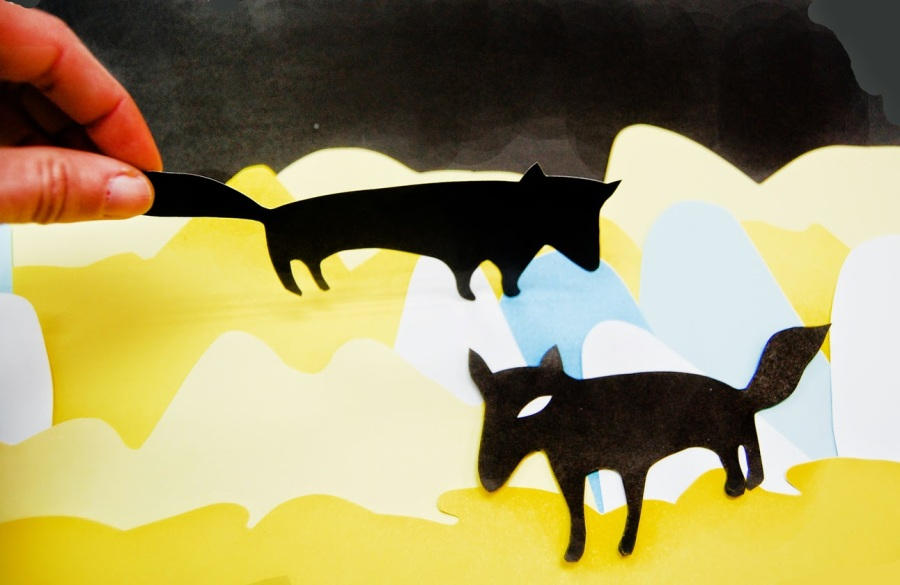 Collage lobos. KAOTIKA ESTUDIO CREATIVO.