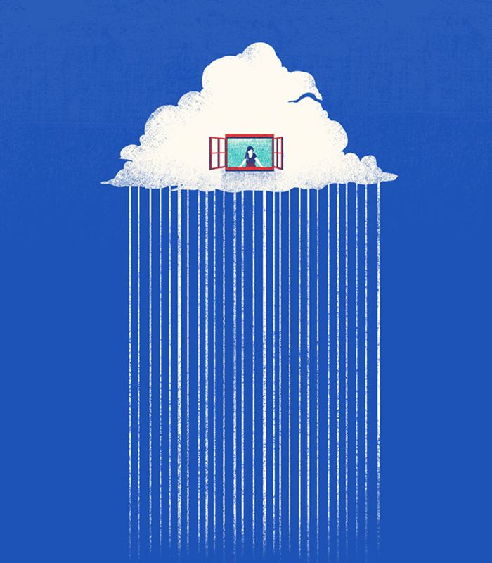 Up in the clouds. Project Coexxist. Illustration: Tang Yau Hoong. All rights reserved.