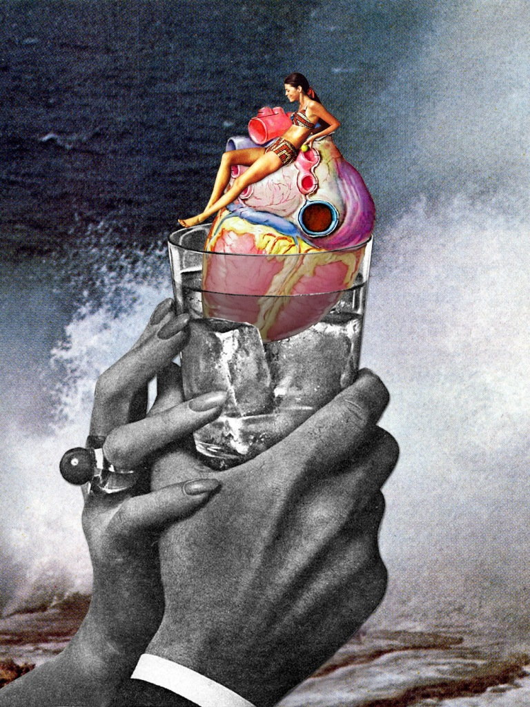 """Heart on the Rocks"" Illustration: Eugenia Loli All rights reserved."