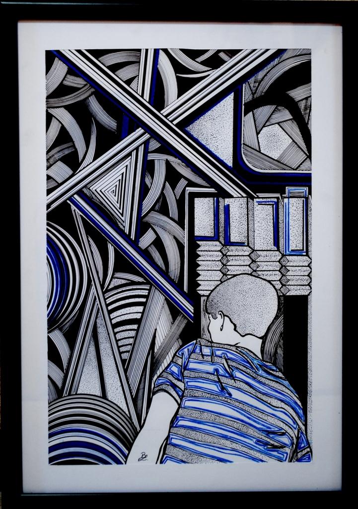 Insomnio. Ilustración: Bren Liliane (Brenda García). Copyrighted. All right reserved.